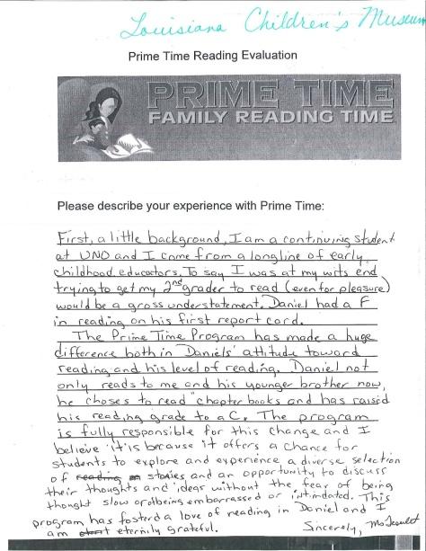 PT Parent Letter 2014