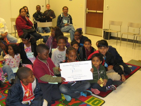 Students at Carver Elementary thank the Pennington Foundation
