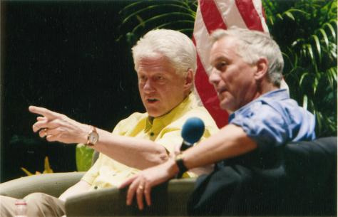 Isaacson interviews President Bill Clinton, 2005