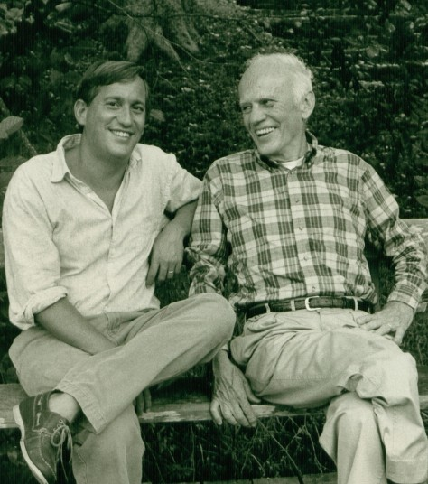 Walter Isaacson and Walker Percy in Covington, August 1988